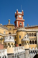 Portugal, Centro region, Sintra, Pena National Palace, listed as World Heritage by UNESCO