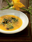 Zuppa frantoiana Vegetable and herb soup, Tuscany, Italy
