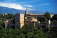 Spain, Andalusia, Granada, the Alhambra Palace, listed as World Heritage by UNESCO, built between 13th and 14th century by the Nasrides dynasty, islam...