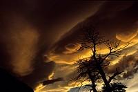 Argentina, Patagonia, Santa Cruz Province, sunset