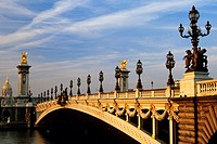 France, Paris, banks of the Seine river listed as World Heritage by UNESCO, Pont Alexandre III