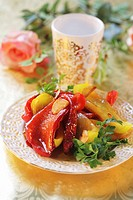 Peperonata Marinated peppers, Italy