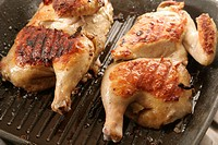 Chickens grilled