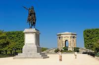 Chateau d´Eau, Promenade du Peyrou, Montpellier. Herault, Languedoc-Roussillon, France