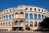 Croatia, Istria, Adriatic Coast, the city of Pula, Roman theatre