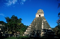 Guatemala, El Peten Department, Tikal site of Mayan civilization listed as World Heritage by UNESCO, Temple I