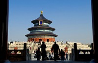 China, Beijing, Temple of Heaven Tian Tan listed as World Heritage by UNESCO, Hall of Prayer for Good Harvests