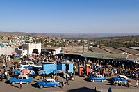 Ethiopia, Harar, town listed as World Heritage by UNESCO, the Shoa door