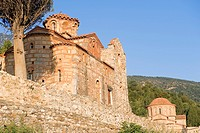 Greece, Peloponnese Region, Mystras, site listed as World Heritage by UNESCO, Evangelistria Church