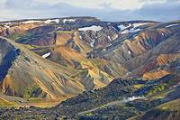 Mountain slopes, Landmannalaugar, Fjallabak Nature Reserve, Central Iceland