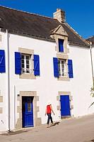 France, Morbihan, La Trinite sur Mer, traditional Breton house