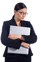 Female business person with computer