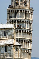 Italy, Tuscany, Pisa, Campo dei Miracoli, listed as World Heritage by UNESCO, the Campanile or Leaning Tower of Pisa