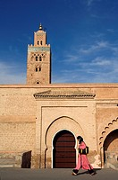 Morocco, Marrakesh, imperial city, medina listed as World Heritage by UNESCO, Koutoubia mosque, minaret