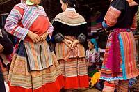 Vietnam, Northern Vietnam, Flower Hmong ethnic minority, Coc Ly market
