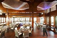 United Arab Emirates, Dubai, Madinat Jumeirah hotel complex, Pierchic restaurant