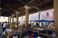 France, Haute Corse, Ile Rousse, covered market