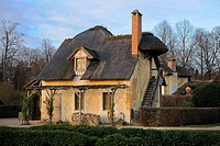 France, Yvelines, Chateau de Versailles, listed as World Heritage by UNESCO, Domaine de Marie Antoinette, Hameau de la Reine the Queen´s Hamlet, dovec...