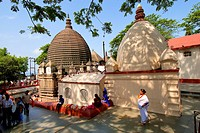 India, Assam State, Guwahati, Hindu Temple of Kamakhya at the top of Nilachal Hill