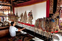 Indonesia, Java, Shadow Theatre, puppet show wayang kulit buffalo leather