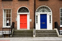 Ireland, Dublin, facade of house