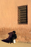 Morocco, Marrakech, imperial city, street scene in the medina, listed as World Heritage by UNESCO