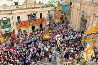 Malta, the Center, Ghaxaq, the annual festa of the village