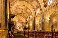 Malta, Valletta, listed as World Heritage by the UNESCO, St John´s Co_Cathedral