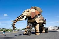 France, Loire Atlantique, Nantes, Ile de Nantes, Les Machines de l´Ile the Machines of the Island in warehouses of the former shipyards, artistic proj...