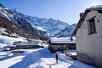 France, Savoie, Peisey Nancroix, the hameau des Lanches Lanches Hamlet