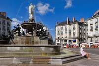 France, Loire Atlantique, Nantes, Place Royale