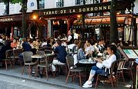 France, Paris, Quartier Latin, Place de la Sorbonne
