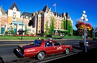 Canada, British Columbia, Vancouver Island, Victoria Inner Harbour, The Fairmont Empress Hotel