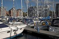 Urban redevelopment, Ipswich Wet Dock, Suffolk, England
