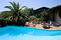 France, Corse du Sud, Bonifacio, A Cheda Restaurant Hotel, swimming pool