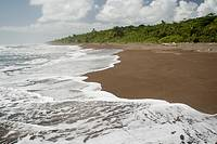 Caribbean beach, photographed in Costa Rica