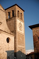 The sun sets on the Duomo in Cividale del Friuli in northern Italy