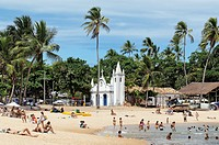 Brazil, Bahia State, Praia do Forte, Coconuts Coast, chapel of San Francisco