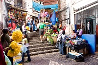 Mexico, Guerrero state, Taxco, the market