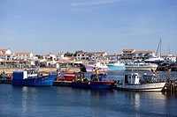 France, Vendee, Ile de Noirmoutier, L´Herbaudiere, the fishing harbour