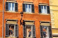 Italy, Lazio, Rome, Via dei Condotti, facade of a fashion shop