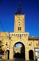 France, Vaucluse, Le Thor, Belfry door