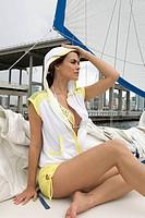 Woman portrait. Key Biscayne Bay, Florida, USA