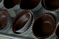 Close_up of chocolate coated muffin cups