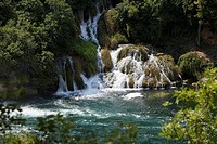 Waterfall Krka National Park Croatia.