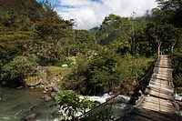 Old bridge over the river Irubi, Irubi county, province Imbabura, Ecuador
