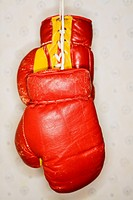 Boxing gloves close_up.