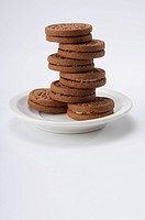 Close_up of chocolate cookies