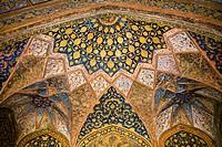 Ceiling inside Akbar's Mausoleum, Sikandra, near Agra, Uttar Pradesh, India