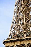 Detail of Eiffel tower, Paris, France